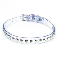 Clear Pretty Kitty Rhinestone Choker