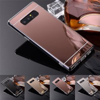 Luxury Electroplate Clear Mirror TPU Back Case Cover For Samsung Galaxy Note 8