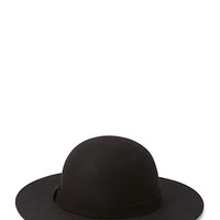FOREVER 21 Chic Wool Wide-Brim Hat Black