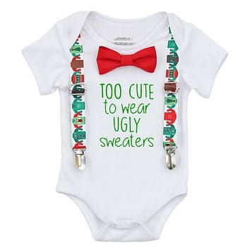 Christmas Outfit Baby Boy Too Cute For An Ugly Sweater