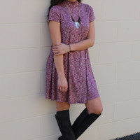 sway with me shift dress wine