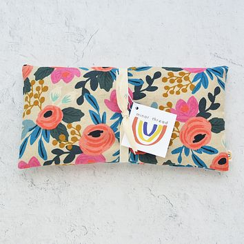 Oversized Eye Pillow in Rosa Floral Pink Canvas