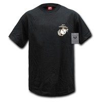 Rapiddominance Marines Basic Military Tee, Black, Large