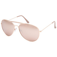 Full Tilt Accomplice Aviator Sunglasses Rose One Size For Women 24671438101
