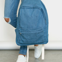 Blue Jean Baby Backpack