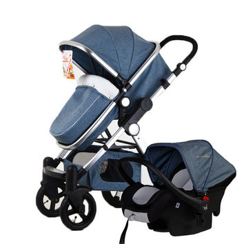 Baby Stroller 3 in 1 with Car Seat For
