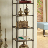 6 Layer Book Shelf, Natural Finish  Cm-Ac126  Wylde Vi Collection