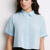 Boxy Cropped Shirt - Tops - 2000135768 - Forever 21 UK