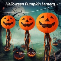10 pieces Halloween Pumpkin Lantern With LED String Lights Lights Warm White Light Party Decoration Accessories