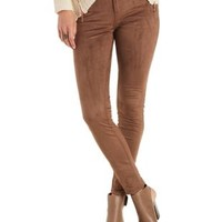 Refuge Collection Faux Suede Skinny Pants