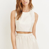Contemporary Sheeny Crop Top