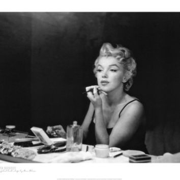 Marilyn Monroe, Back Stage Print by Sam Shaw at AllPosters.com