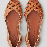 AEO Strappy Open Toe Flat, Tan