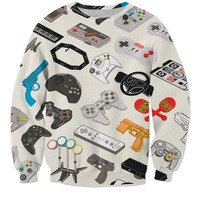 Video Game Controller Collection Sweater