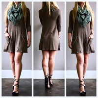 A Pocket Tunic in Coffeebean