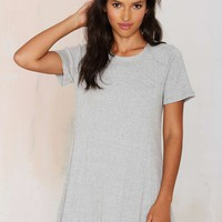 Lani Ribbed Tee Swing Dress