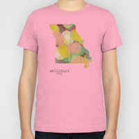 Missouri state map  Kids T-Shirt by bri.buckley
