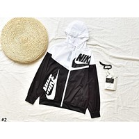 NIKE Tide brand color matching men's and women's wild casual anti-mite skin clothing #2