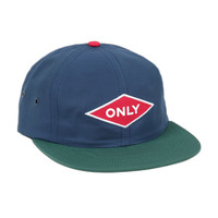 Only NY: Nylon Cycling Polo Hat - Royal / Deep Green