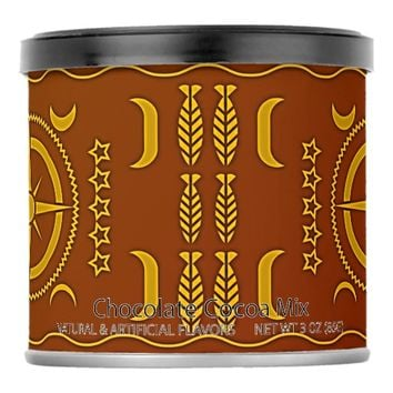 Brown African Symbols Hot Chocolate Drink Mix