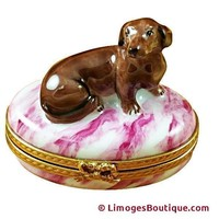 Dachshund Dog Limoges Box