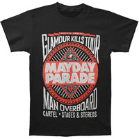 Mayday Parade Men's  Glamour Kills 2013 Tour T-shirt Black