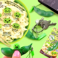 Buy Endless Edamame Popping Soybean Pod Keychain Series 2 at Tofu Cute