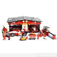 F1 Racing Garage - Lego Compatible Toy