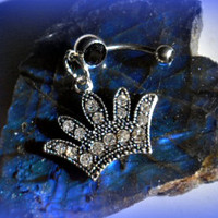 Princess Crown BellyRing,Direct Checkout, Piercing, Belly Ring Jewelry, Navel Ring, Belly Button