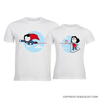 Made for Loving You™ His and Hers Couples Matching Shirts, Superman Shirt, Christmas Gift for Boyfriend, Husband Gift, Boyfriend Gift, Couples Gift