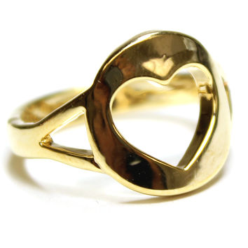 Gold Heart Cut Out Ring