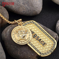 2016 new Hot Sale  Gold Plated gold Hip Hop Pendant Necklace women men Full angel Crystal  dog Rap Chain Necklace Jewelry