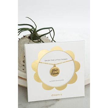 Best Friends - 24 Karat Gold Plated Coin Dainty Necklace