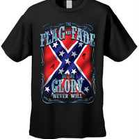 Confederate Rebel Flag T-Shirt May Fade But the Glory Never Will