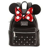 Disney Minnie Mouse Icon Mini Backpack by Loungefly Backpack Bookback Bow New