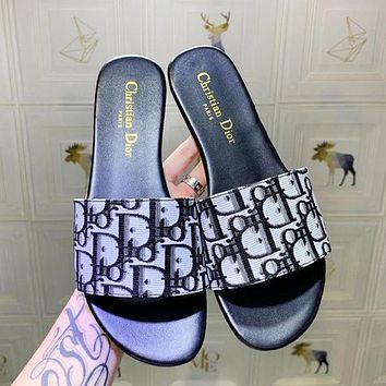 Dior Women Fashion More Letter Print Shoes Slippers
