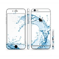 The Water Splashing Wave Sectioned Skin Series for the Apple iPhone 6 Plus
