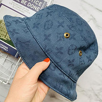 Louis Vuitton LV Woman Men Fashion Denim Bucket Hat Cap