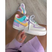 Nike Air Force 1 Shadow new stitching color women's casual shoes