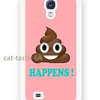 case,cover fits samsung models>Poop happens, Emoji,pink,poo,emojis,faces,smiley