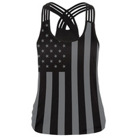 4th July 3D Printed Striped Star Flag Tank Top
