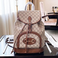 Gucci GG Marmont classic backpack Bronze Women Bag