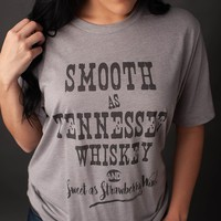 GINA Smooth As Tennessee Whiskey Tee