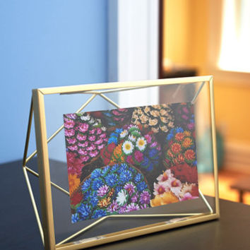 Urban Memorable Dimension Single-Photo Frame in Gold by ModCloth