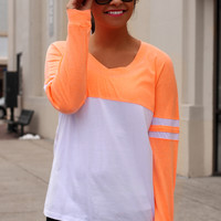 Show Your Spirit Top - Neon Orange