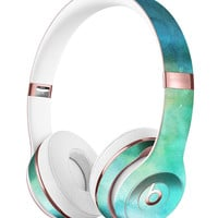 Green 979 Absorbed Watercolor Texture Full-Body Skin Kit for the Beats by Dre Solo 3 Wireless Headphones