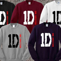 One Direction Logo Sweater Pop Shirt men and women Sweatshirt Unisex Jumper Size S-3XL