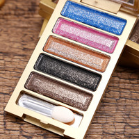 New 5 Color Waterproof Makeup Women Natural Warm Eyeshadow+Blush Palette Set with Brush  + Free Shipping