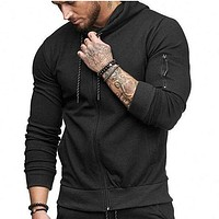 Fashion Hooded Sweatshirt Male Zipper Casual Sportswear