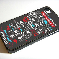 Absolutely Love One Direction Quote - Print on iPhone 4/4s Case - iPhone 5 Case - Samsung Galaxy S3 - Samsung Galaxy S4